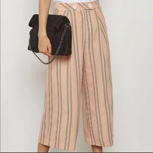 NWT TOPSHOP Striped Culotte Trousers